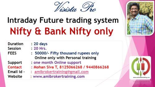 Visista Pro Intraday Future trading system