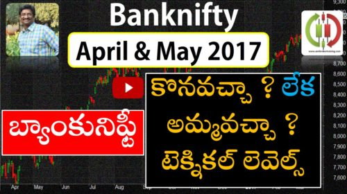Banknifty buy sell hold trend strategy for april and may 2017 Telugu